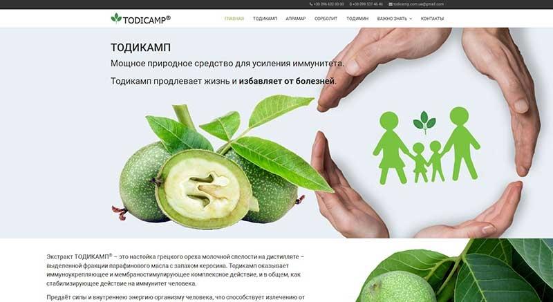 Сайт Тодикамп